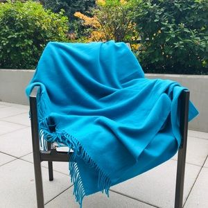 Hermes Turquoise Cashmere blanket